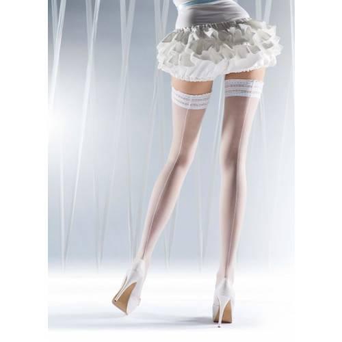 Ciorapi albi cu banda adeziva Knittex