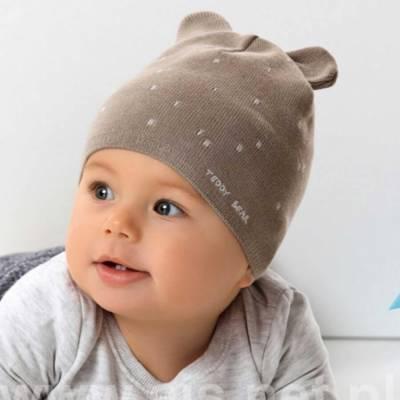Caciulita bebelusi Teddy Bear cu urechiuse AJS 42-062