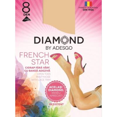 Ciorapi adezivi Diamond French Star 8 D