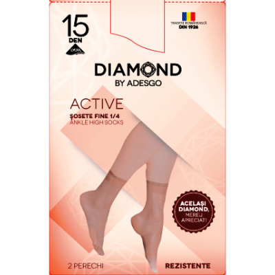 Sosete scurte (2perechi) Diamond Active